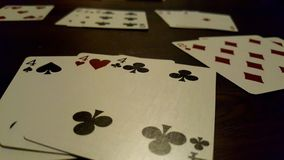 Rummy card game stock photography