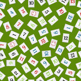 Rummy pieces pattern Royalty Free Stock Images