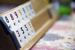 Rummy Squares Game. A turkish traditional fun game.Need 4 people to play Royalty Free Stock Photography