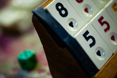 Rummy Squares Game Royalty Free Stock Images