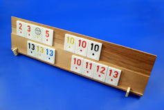 A rummy table. Here is a rummy game Stock Photography