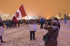 Rumäneprotest gegen Regierung Lizenzfreies Stockbild