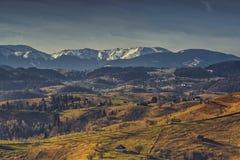 Rumänische landwirtschaftliche Landschaft Lizenzfreie Stockfotos