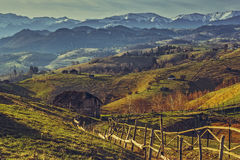 Rumänische ländliche Landschaft Lizenzfreie Stockbilder