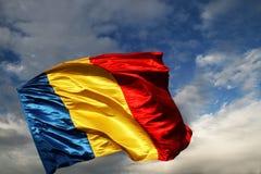 Rumänische Markierungsfahne Stockfoto
