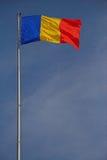 Rumänische Markierungsfahne und STOLZ Stockbild