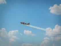 Rumänische Militärflugzeugshow Bukarest 2016 Stockbild