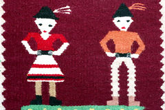 Rumänische traditionelle Teppichverzierung Lizenzfreies Stockfoto