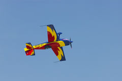 Rumänsk flygshow Arkivbild