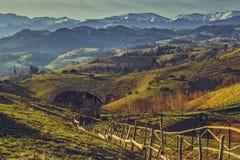 Rumänskt lantligt landskap Royaltyfria Bilder