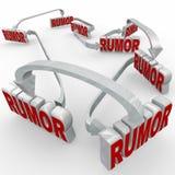 Rumor Connected 3d Words Arrows Spreading Misinformation Unconfi Stock Photos