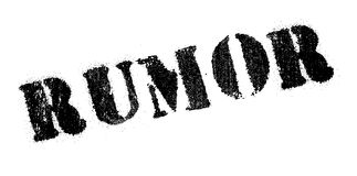 Rumor rubber stamp Stock Photography