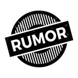 Rumor rubber stamp Royalty Free Stock Images