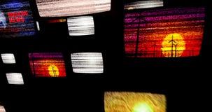 Rumore dei set televisivi stock footage