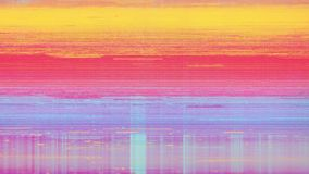 Rumore della neve del pixel di Digital dello schermo della televisione stock footage