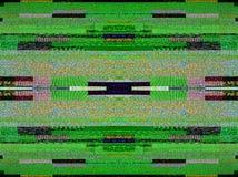 Rumore della televisione di Digital su un grande scre astuto del plasma OLED 4K TV Fotografia Stock Libera da Diritti