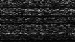 Rumore dinamico della TV, cattivo segnale della TV, in bianco e nero, monocromatico, contesto della rappresentazione 3d Immagini Stock Libere da Diritti