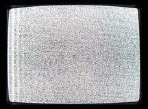 Rumore statico dello schermo desintonizzato della TV fotografia stock