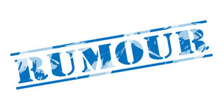 Rumour blue stamp stamp. Isolated on white background Stock Photography