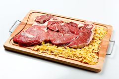 Rump. Raw beef cut kown as Rump Stock Photography