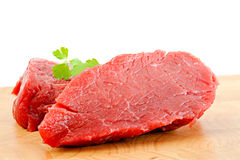 Rump steak. Raw and fresh Stock Images