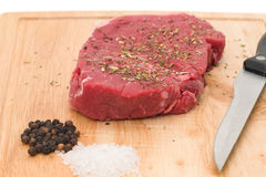 Rump steak Stock Images