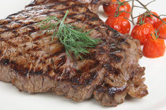 Rump Steak Dinner Stock Photos