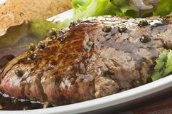 Rump steak with green pepper Stock Image