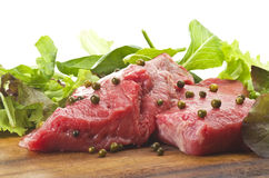 Rump steak with green pepper Stock Photo