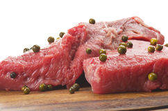 Rump steak with green pepper Royalty Free Stock Photography