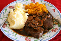 Rump steak meal Stock Image