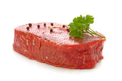 Rump steak. Rump steak -  on white background.Raw meat Royalty Free Stock Photo