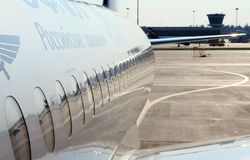 Rumpf des Flugzeuges Stockfotos
