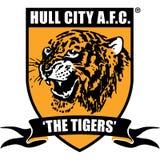 Rumpf-Stadt-Vereinigungs-Fußball-Verein-Logo Stockbild