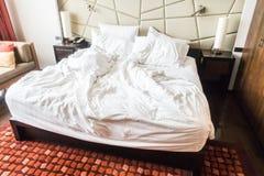 rumpled кровать Стоковые Фото
