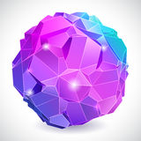 Rumpled abstract sphere Stock Photo