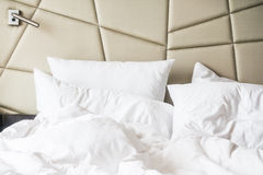 Rumpled bed Royalty Free Stock Photography