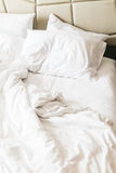 Rumpled bed Stock Image