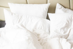 Rumpled bed Royalty Free Stock Images