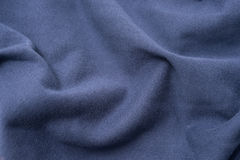 Rumpled Blue Cloth Fabric Swatch Stock Image