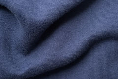 Rumpled Blue Cotton Fabric Royalty Free Stock Photo