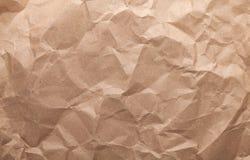 Rumpled brown cardboard paper Royalty Free Stock Photo