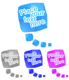 Rumpled colorful bubbles for speech. Vector illustration Stock Photography