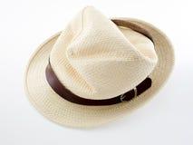 Rumpled female felt hat isolated on white background Royalty Free Stock Photo