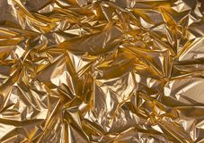 Rumpled Golden foil 1 Royalty Free Stock Photos