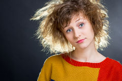 Rumpled hair Stock Photography