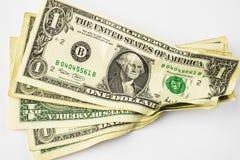 Rumpled money Stock Photos