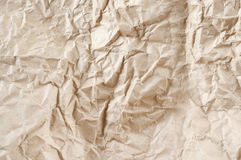Rumpled packaging paper Stock Image