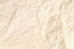 Rumpled paper Stock Photography