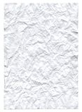 Rumpled paper sheet. Background and texture. On white Royalty Free Stock Image